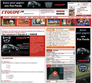 Campagne de bannières Iveco Fiat