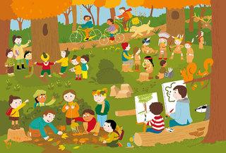 Jeunesse au plein air posters pédagogiques