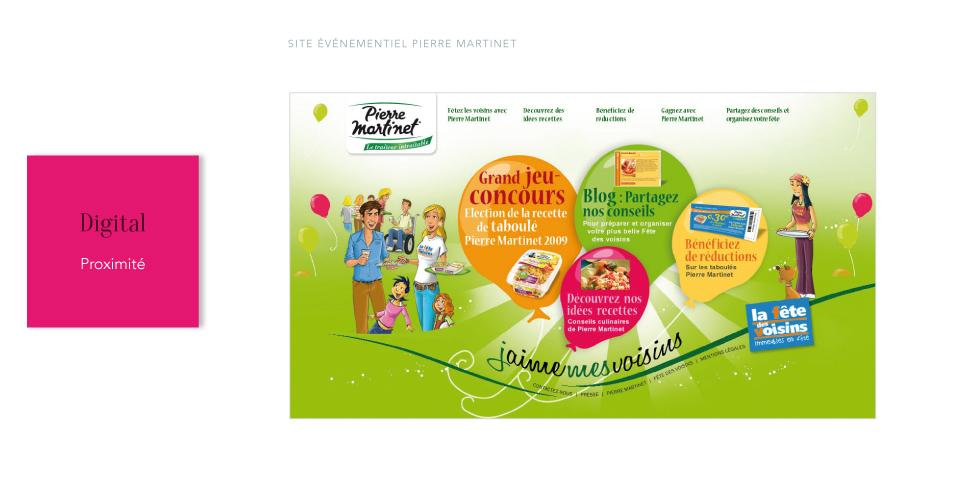 PIERRE MARTINET<br/><span>Site événementiel pour la fête des voisins</span>