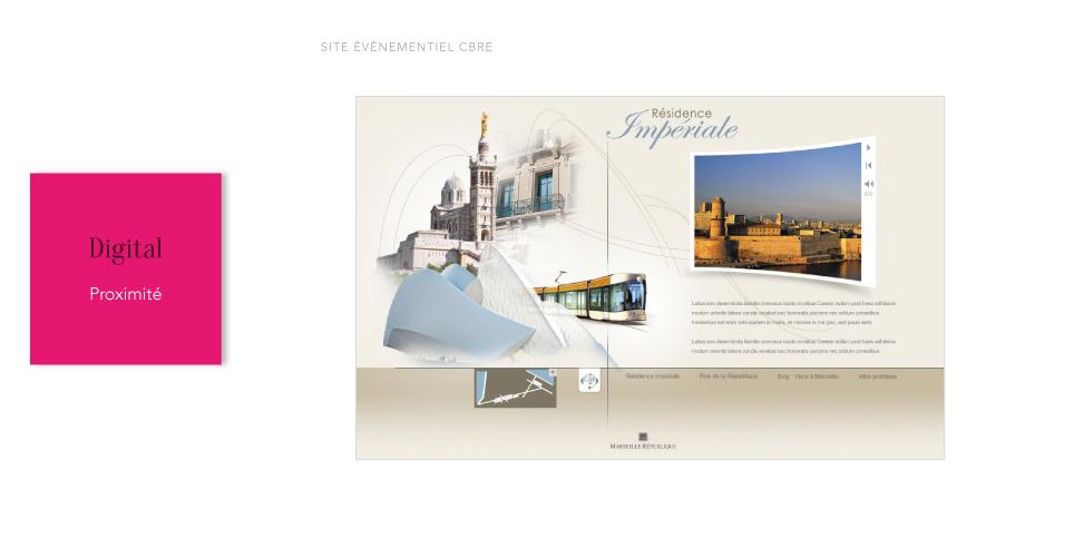 CBRE<br/><span>Site événementiel pour programme immobilier à Marseille</span>